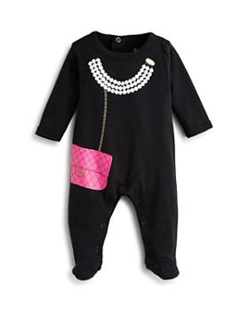 Sara Kety - Girls' Pearls & Purse Footie - Baby