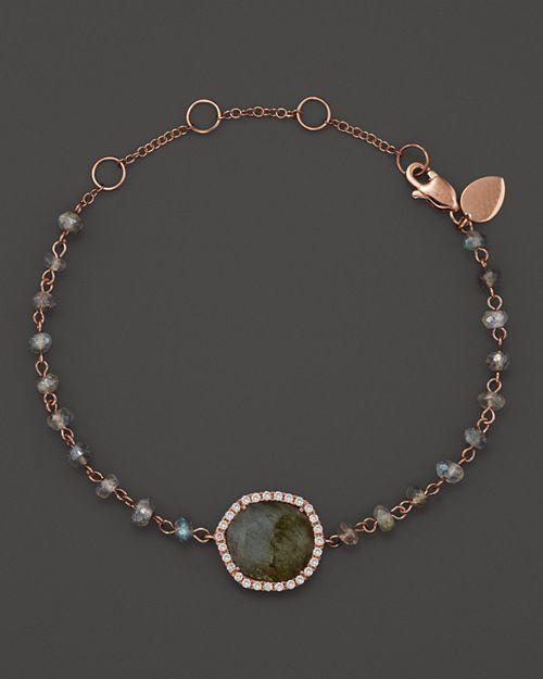 Meira T - 14K Rose Gold Labradorite Bead Bracelet