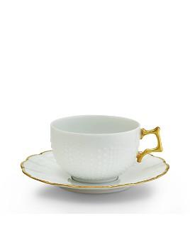 Medard de Noblat - Corail Or Teacup & Saucer