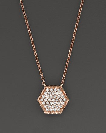 Dana Rebecca Designs - 14K Rose Gold Jennifer Yamina Necklace with Diamonds, 16""