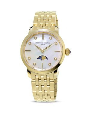 Frederique Constant Ladies Slimline Moonphase Watch, 30mm