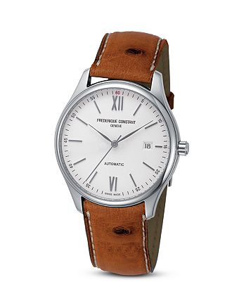 Frederique Constant - Classics Index Watch with Ostrich Strap, 40mm