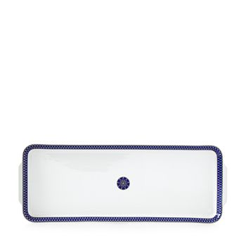 Royal Limoges - Blue Star Rectangular Cake Platter