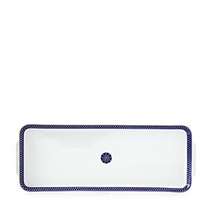 Royal Limoges Blue Star Rectangular Cake Platter