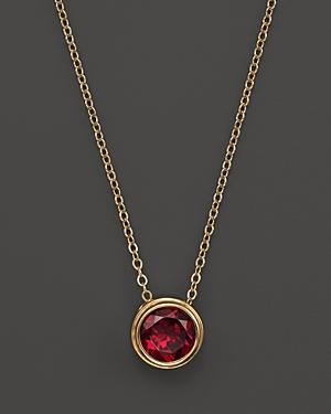Rhodolite Garnet Bezel Set Pendant Necklace in 14K Yellow Gold, 17 - 100% Exclusive