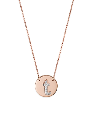 Click here for Jane Basch 14K Rose Gold Circle Disc Pendant Neckl... prices