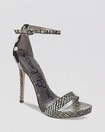 Sam Edelman - Open Toe Platform Sandals - Elanor High-Heel
