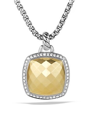 David Yurman Albion Pendant with Diamonds and Gold