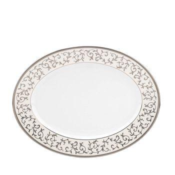 Lenox - Opal Innocence Silver Oval Platter
