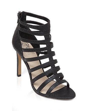 VINCE CAMUTO - Open Toe Caged Gladiator Sandals - Kamella High-Heel
