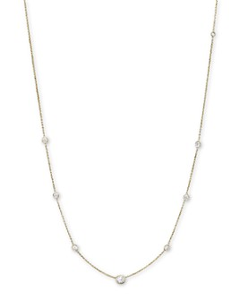Bloomingdale's - Diamond Station Necklace in 18K Yellow Gold, 1.0 ct. t.w.- 100% Exclusive