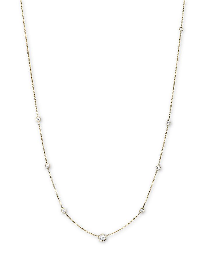 Bloomingdale's - Diamond Station Necklace in 18K Yellow Gold, 1.0 ct. t.w. - 100% Exclusive