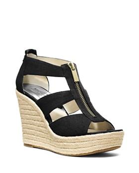 MICHAEL Michael Kors - Damita T Strap Espadrille Wedge Sandals