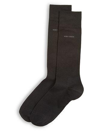 BOSS Hugo Boss - Mercerized Cotton Solid Socks