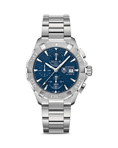 TAG Heuer - TAG Heuer Aquaracer Automatic Chronograph Watch with Blue Dial, 43mm