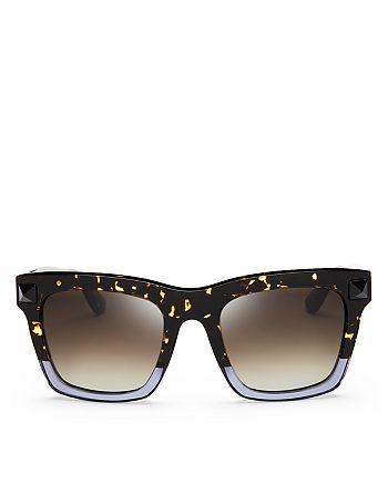 47d7a413e8 Valentino - Women s Rockstud Oversized Square Sunglasses