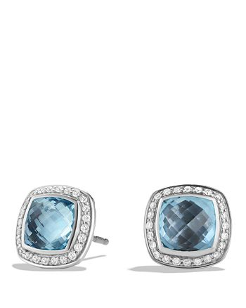 David Yurman - Albion Earrings with Blue Topaz and Diamonds