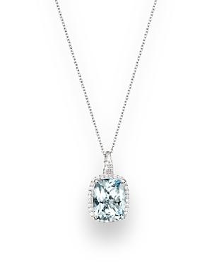 Aquamarine and Diamond Pendant Necklace in 14K White Gold, 18 - 100% Exclusive