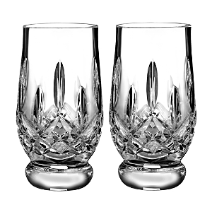 Waterford Lismore Connoisseur Whiskey Footed Tasting Tumbler Glass, Set of 2
