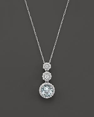 Aquamarine and Diamond Pendant Necklace in 14K White Gold, 16 - 100% Exclusive