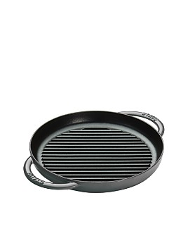 """Staub - 10"""" Round Double Handle Pure Grill"""