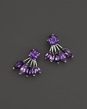 Click here for Amethyst Earring Jackets in 14K White Gold - 100%... prices