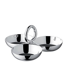 Christofle - Vertigo Small 3-Part Silver Appetizer Dish