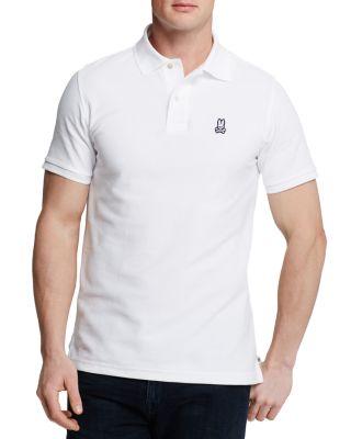 PSYCHO BUNNY Neon Anniversary Polo Shirt in White