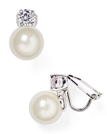 Ralph Lauren - Faux Pearl Clip-On Earrings