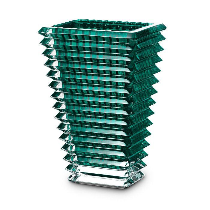 Baccarat - Eye Large Rectangular Vase, Green