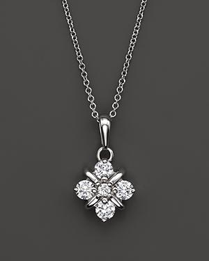 Diamond Pendant Necklace in 14K White Gold, .40 ct. t.w. - 100% Exclusive