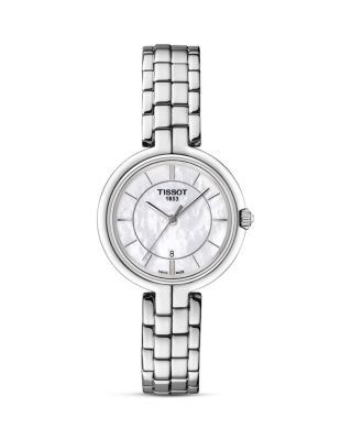 Flamingo Women'S Quartz Watch With Mother Of Pearl Dial, 26Mm in Silver/ Mother Of Pearl