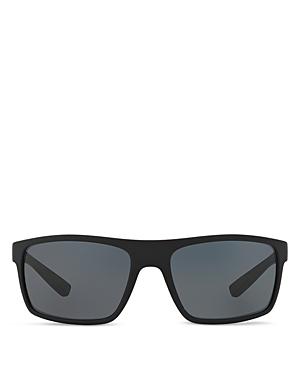 Prada Polarized Rectangle Wrap Sunglasses, 62mm