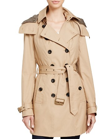 $Burberry Reymoore Hooded Cotton Trench Coat - Bloomingdale's