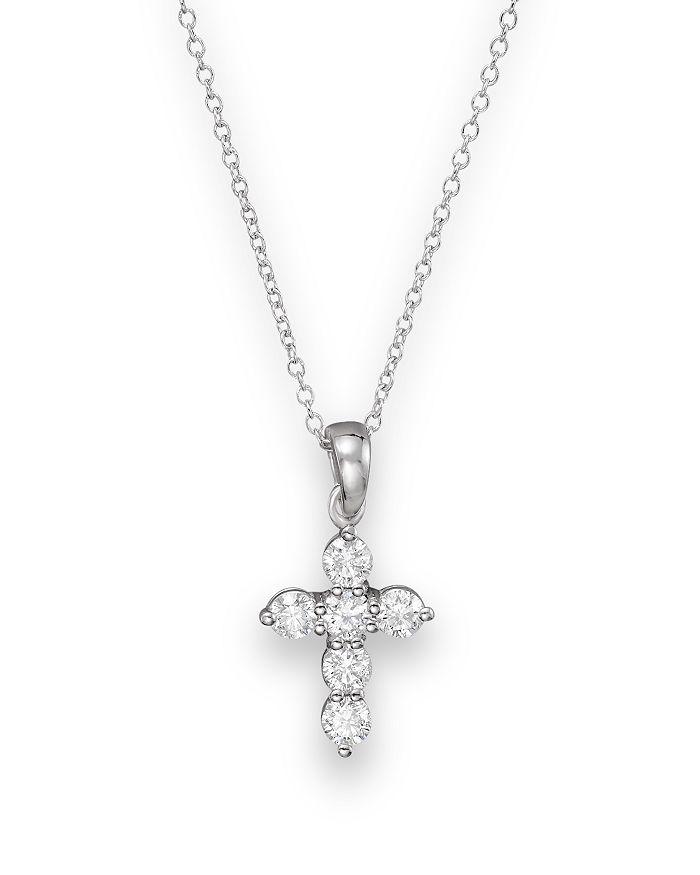 a70bdf29b Bloomingdale's - Diamond Cross Pendant Necklace in 14K White Gold, .60 ct.  t.w.