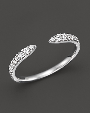 Diamond Open Ring in 14K White Gold, .35 ct. t.w. - 100% Exclusive