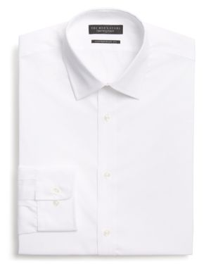 The Men's Store at Bloomingdale's Basic White Regular Fit Dress Shirt - 100% Exclusive