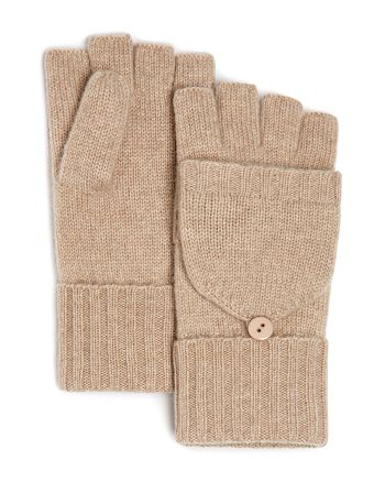 C by Bloomingdale's - Cashmere Pop-Top Mittens - 100% Exclusive