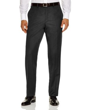 JACK VICTOR Loro Piana Regular Fit Dress Pants in Charcoal Grey