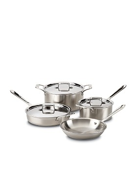 All-Clad - d5 Stainless Brushed 7-Piece Set