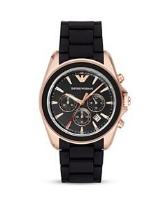 Emporio Armani Rubber 3-Link Bracelet Watch, 44mm - Bloomingdale's_0
