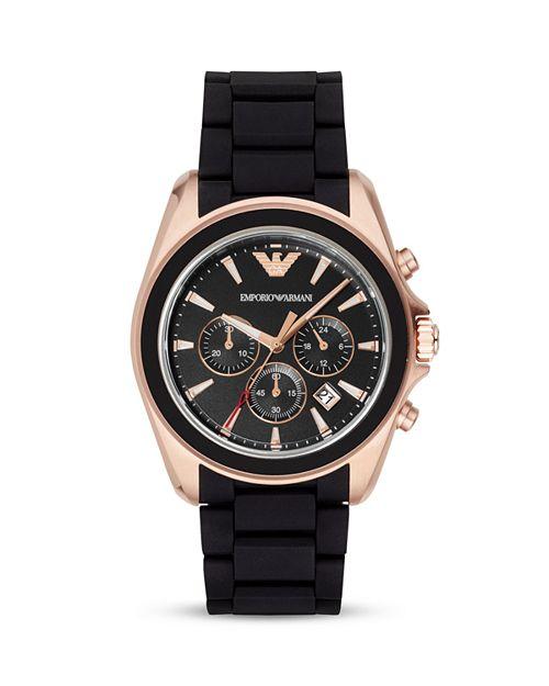 Emporio Armani - Rubber 3-Link Bracelet Watch, 44mm