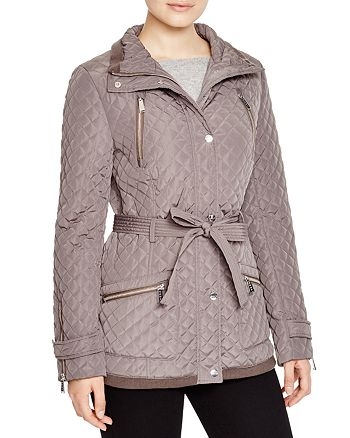 DKNY - Knit Trim Quilted Jacket