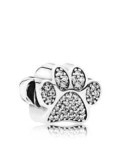PANDORA Moments Collection Sterling Silver & Cubic Zirconia Paw Prints Charm - Bloomingdale's_0
