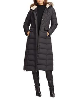 bcd034a2c Ralph Lauren - Faux Fur Trim Puffer Maxi Puffer Coat ...