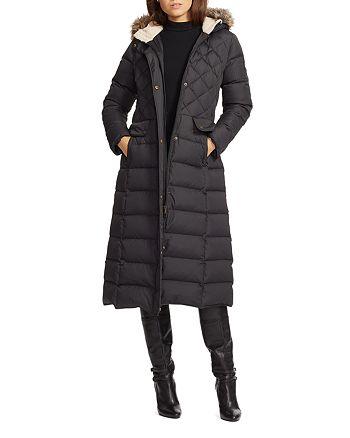 dacfd68f349 Ralph Lauren Faux Fur Trim Maxi Puffer Coat | Bloomingdale's