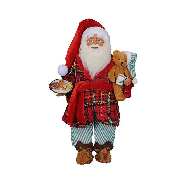 "Karen Didion Originals - Milk and Cookies Santa, 17"""