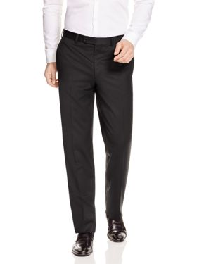 JACK VICTOR Loro Piana Regular Fit Dress Pants in Black