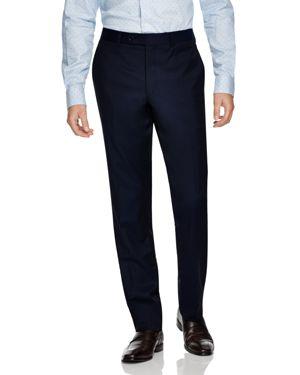 JACK VICTOR Loro Piana Regular Fit Dress Pants in Navy