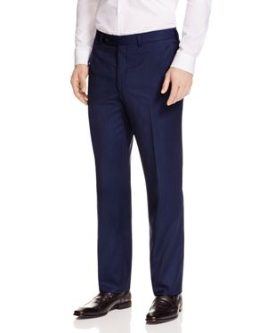 JACK VICTOR Loro Piana Regular Fit Dress Pants in High Blue